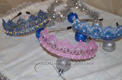 Диадема, корона для Принцесы, Феи, Снежинки, Ночи. Шляпка для костюма.