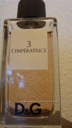 Dolce & Gabbana 3 LImperatrice, оригинал, остаток с флаконом