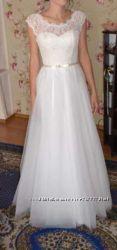 Очень нежное свадебное платье Не венчанное