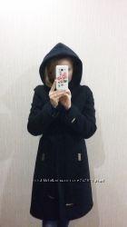 Зимнее кашемировое пальто с капюшоном