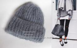 теплая зимняя шапка. серый цвет