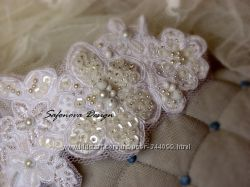 вышитый ободок для невест и не только