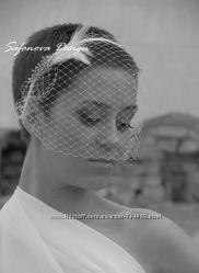 вуалетка ободок для невесты. свадебное украшение. фата.