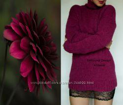 Теплый базовый свитер- водолазка из итальянской пряжи.