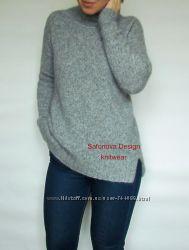 Теплый свитер- водолазка из бейби альпака.
