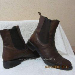 натур. кожа, ботинки женские демисезонные, стелечка 23, 5см