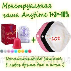 1плюс3 менструальная чаша Anytime силикон США
