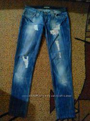 джинсы рванки