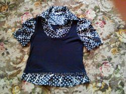 Блузка комбинированая