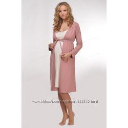 Халаты  для беременных и кормящих мам для роддома