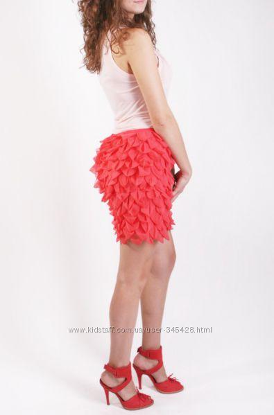 Стильная юбка кораллового цвета Asos. Новая.