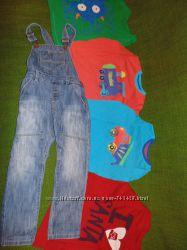 Стильные джинсы, полукомбинезон Next .4-8лет. 104-128см