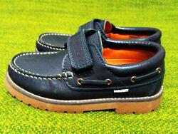 Темно-синие туфли топсайдеры Pablosky. Размер 31,20см. натуральная кожа