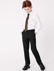 Черные  школьные брюки George тефлоновое покрытие.8-9лет,128-135см. Slim fit