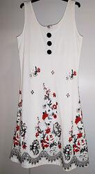Красивое платье-сарафан летнее с эффектом вышивки roger 1030. размер М