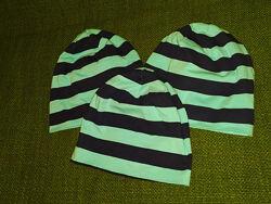 Стильные демисезонные полосатые шапки Yigga. Размер-54-56см.