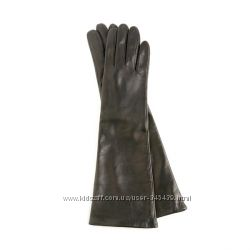 Кожаные удлиненные перчатки, высокие