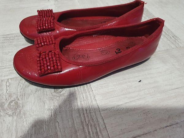 Красные туфельки TU,19,5см по стельке
