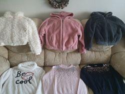 Фирменные теплые вещи на весну на 10-12лет, Zara, Next