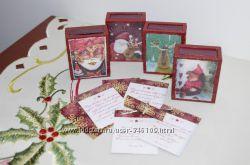 Коробочка-магнит ручной работы с поздравлением Merry Christmas