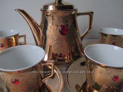 Kronester BAVARIA. 1960 г. сервиз 6 персон. Золото. Рубины.