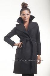 Женское кашемировое черное пальто 411