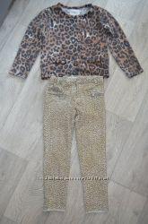 Комплект Zara тигровый принт. 104 р-р.