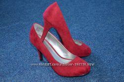 Туфли замшевые фирмы Fioni 25 см по стельке.