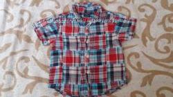 Классная рубашка с коротким рукавом на мальчика