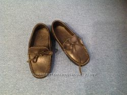 Zara кожаные мокасины для мальчика, размер 24