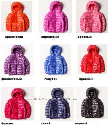 Куртки на пуху, деми пуховики суперлегкие, очень теплые  р. 90-160, 500грн
