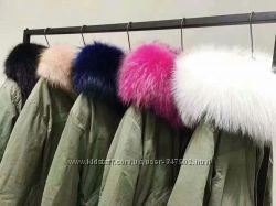 Парка Mr & Mrs Furs Italy реплика короткая и длинная с натуральным мехом
