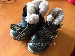 Тёплые сапоги зимние кожаные мех
