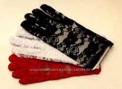 Гипюровые перчатки много цветов