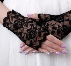 Гипюровые перчатки без пальчиков - выбор цветов