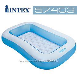 Бассейн надувной детский прямоугольный 57403 Интекс