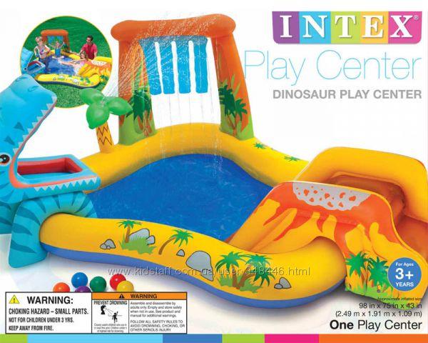 Надувной игровой центр бассейн Динозавр Intex 57444, Интекс