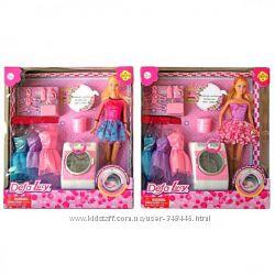 Кукла типа барби со стиральной машиной и аксессуарами Defa Lucy 8323