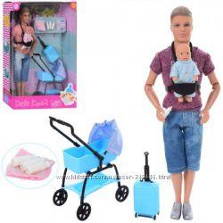 Кукла Defa 8369 Кен пупс, коляска, чемодан . два вида