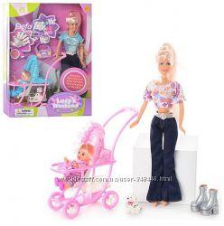 Кукла defa lucy 20958 дефа люси типа барби с коляской. три вида
