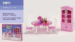 Кукольная мебель глория gloria 24011 столовая барби
