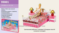Мебель для кукол Gloria 99001 Спальня кровать для барби