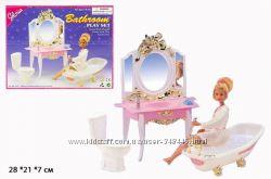 Мебель для кукол Gloria Глория 2316 Ванная комната