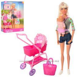 Кукла Defa Lucy 2 вида, младенец, коляска 8380