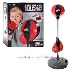 Боксерский набор MS 0331, 0332, 0333, груша на стойке и перчатки