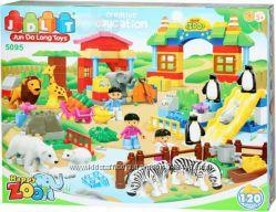 Конструктор детский 5095 Зоопарк, JDLT, крупные детали