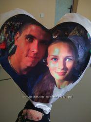 подушка сердце с фото