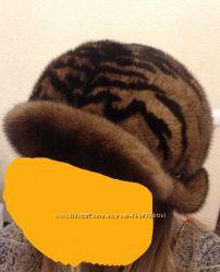 Шикарная шапка из натурального меха норки новая