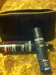 Подарочный набор  syoss термозащита лак для волос косметичка