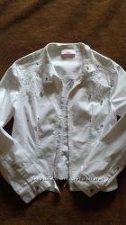 clips джинсовая белая куртка, оригинал, Италия